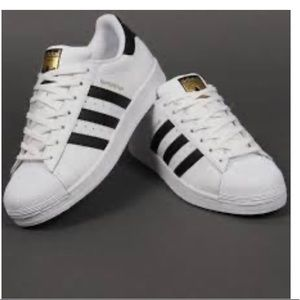 Adidas Superstar Black and White Sneakers